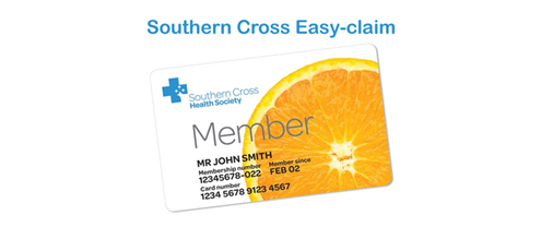 Southern cross easy claim card
